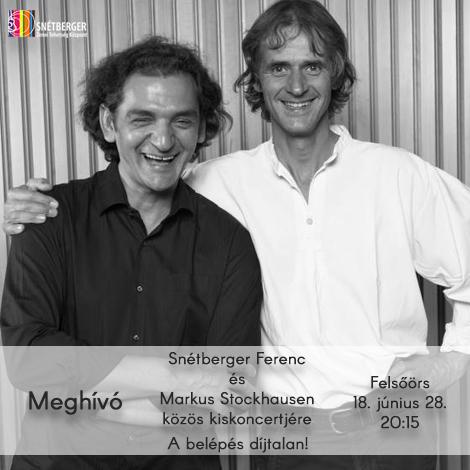 Snétberger Ferenc és Markus Stockhausen a Központban
