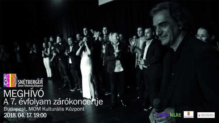Meghívó - 7. évfolyamunk zárókoncertje Budapesten