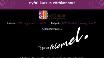 Zárókoncert / Closing concert